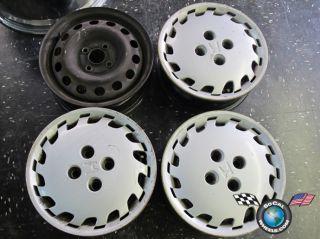92 00 Honda Civic Factory 14 Steel Wheels OEM Rims 63727 42700301965 3