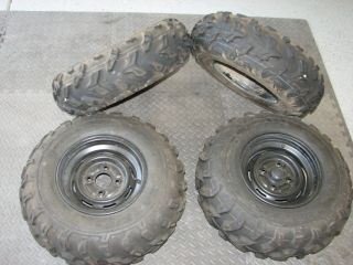 Yamaha Rhino Front Rear Tire Set w Rims Used 25 10 12 25 8 12