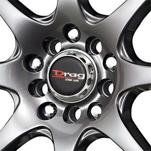 New 17x7 4x100 4x114 3 Drag Drag DR55 Gun Metal Wheels Rims