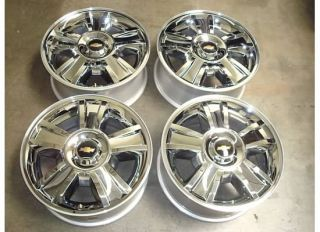 TAHOE Suburban AVALANCHE WHEELS Rims OEM Chrome LTZ 07 12 11 Factory