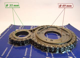 FIAT 500 , Fiat 126, Timing chain Engine, Original & New