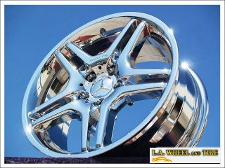 New 18 Mercedes Benz E55 AMG Chrome Wheels Rims