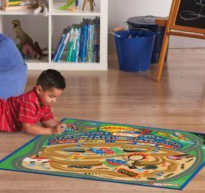 New Hot Wheels Racetrack Game Rug with 2 Cars 31 1 2 x 44