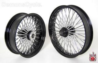 Set Black Fat Mammoth Wheels 21x3 18x5 5 48 Spokes 200 Wide Fits