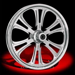 Czar Chrome 21x2 15 Front Wheel for 07 10 Harley FXST Softail Custom
