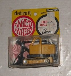 Vintage 1968 Cragstan Detroit Wild Wheels Dirty Diggers Power Shovel