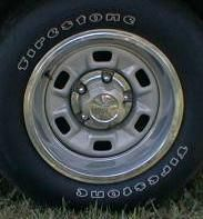 1975 Chevrolet Camaro ZJ7 Rally Wheels Trim Rings Center Caps Set of 4