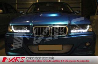DRL Day Time LED Head Lights Headlight BMW E36 318i 318IS 320i 323i