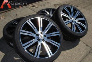 BLACK MACHINED FACE STOMER WHEELS + NEXEN 275/40/20 TIRES PACKAGES