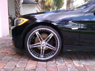 20 Staggered asanti Wheels Chrome and Black 3 Piece AF144