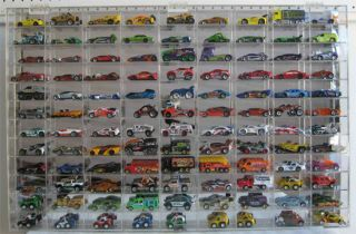 108 Hot Wheels Matchbox Display Case Cabinet Redline