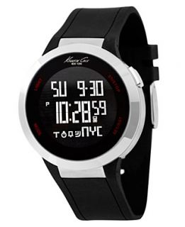 Kenneth Cole New York Watch, Mens Digital Touch Screen Black Silicone