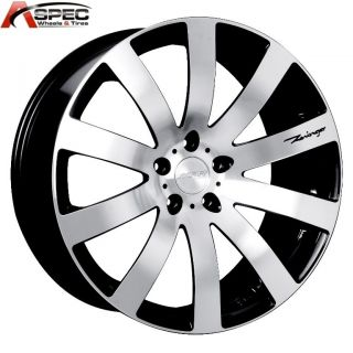 MRR HR4 20x9 5x114 3 40 Black Machined Rims Wheels