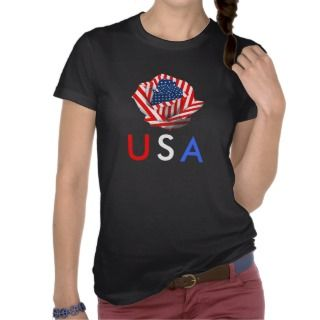 Patriotic Rose Tee Shirts