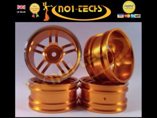 RC 1 10 Gold Twin 5 Spoke Real Alloy Wheels Nitro Brushless Drift Car