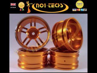 RC 1 10 Gold Twin 5 Spoke Real Alloy Wheels Nitro Brushless Drift Car