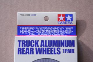 Tamiya RC 1 10 Aluminum Rear Truck Wheels Tractor Trailer 56509