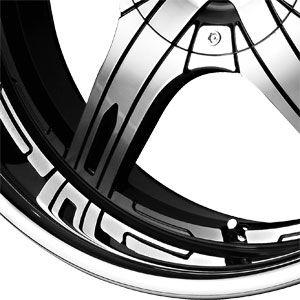 New 22x9 5 5x115 5x120 Falken WHL LX 55 Machined Wheels Rims