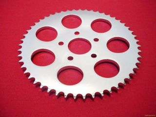 REAR CHAIN SPROCKET CHROME FOR HARLEY SHOVELHEAD 73 85 SPORTSTER 79 81