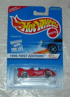 1996 Mattel Hot Wheels First Editions Series Ferrari F50 Diecast
