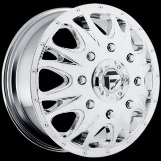 Chrome Fuel Throttle Dually Front Wheels 8x210 +129 CHEVROLET GMC