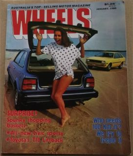 WHEELS 1980 01 HONDA CIVIC TOYOTA T18 BOLWELL IKARA LAMBORGHINI