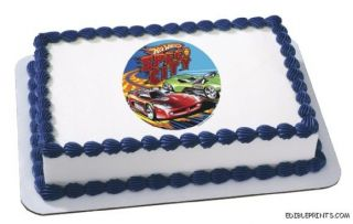 Hot Wheels Speed City Edible Image Icing Cake Topper