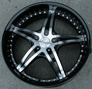 RVM 497 22 Black Rims Wheels Lexus ES330 GS300 SC300
