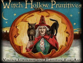 OOAK Halloween Folk Art Witch Painting HA31 Wicca Witch Pagan