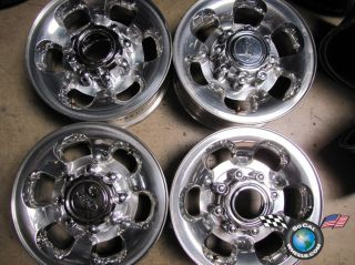 99 00 F250 Factory 16 Polished Wheels OEM Rims 3C34 1007 EA 3407