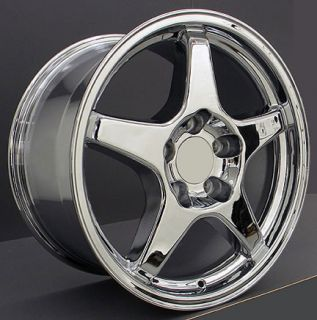 17 9 5 11 Chrome ZR1 Style Wheels Rims Fit Camaro Corvette