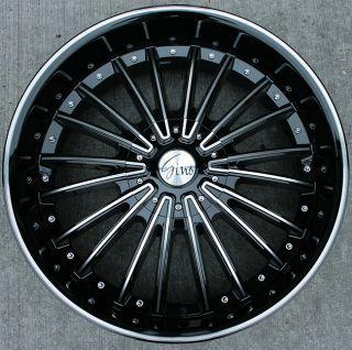 RVM 487 22 Black MD Rims Wheels Sequoia 4 Runner