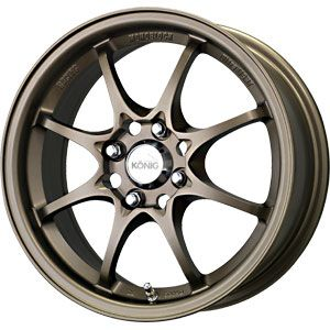 New 15X6.5 4 100 Helium Yhi Bronze Wheels/Rims