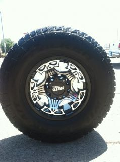 17 Black Rims Tires 8x165 Hummer LT315 70 17 Falken Wild Peak at Moto