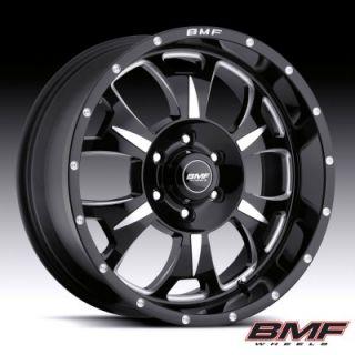 BMF Wheels 462B 790613900 M 80 Death Metal Black 17x9 Bolt 6x5 5