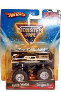 HW Monster Jam Monster Truck Cuttin Coroners 72 Flag