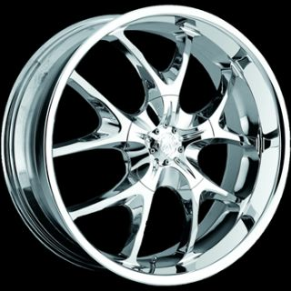 22 Chrome Wheel Voo Doo 412 5x112 Rim Mercedes Benz