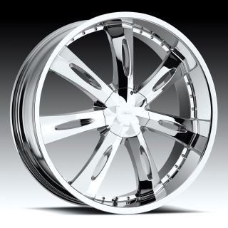 Inch 5x4.5 5x114.3 5x4.75 Chrome Milanni Witchy Wheels Rims +18 Offset