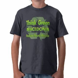 Think Green Macedonia T Shirt