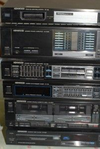 Vintage Kenwood Stereo Power Amplifier System 6 PC Set