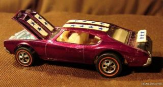 Vintage RARE 1969 Hot Wheels Redline Olds 442 Purple