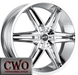 24 Chrome MKW M106 Wheels Rims 5x110 5x115 5 Lug HHR Malibu cts Grand