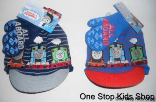 Thomas The Train Tank Boys Winter Set Hat Mittens Cap Gloves Toddler