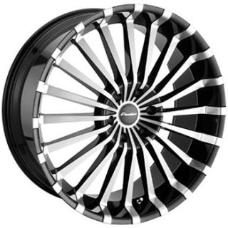 22x9 5 Machined Black Panther Spline Wheels 5x150 Rims