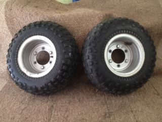 83 84 Suzuki ATL50 LT50 ATV ATC Trail Buddy Rear Wheels Tire 145 70 6