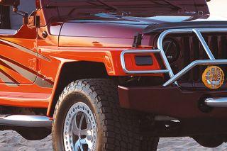 97 06 Jeep Wrangler Passenger Side Fender Extension Wrangler Style