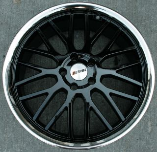 Petrol Vengeance 20 Black Rims Wheels Acura TL TSX