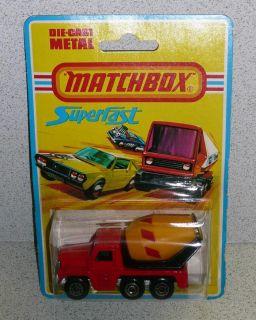 Vintage Matchbox Superfast Wheels Cement Truck 19 MOC 1976