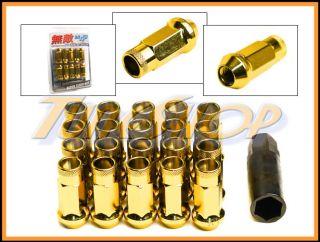 SR48 WHEELS LUG NUTS 12X1.5 1.5 ACORN RIM EXTENDED OPEN END 20 GOLD L