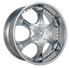 24 inch Gazario 710 Chrome Wheels Rim 6x5 5 Chevy C2500 Colorado
